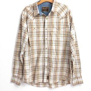 Wrangler Retro Plaid Western Snap Shirt